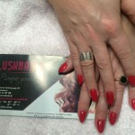 Cherry Red Gel Nails, Lush Nails