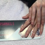 Natural with Butterfly Design Gel Nails, Lush Nails
