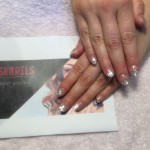 Silver Gitter Gel Nails, Lush Nails